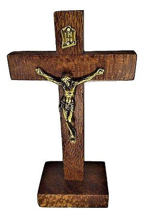 Crucifixo Rústico de mesa 12 cm