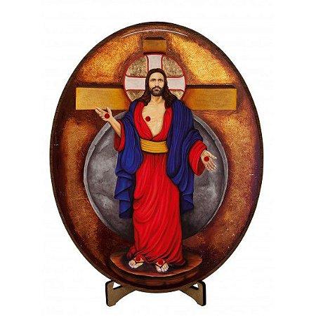 ÍCONE JESUS DAS SANTAS CHAGAS GRANDE- 26 CM