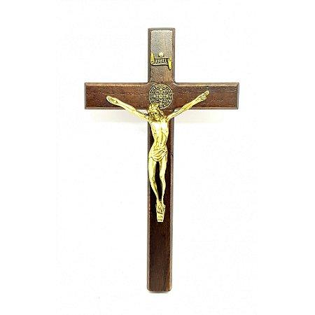 Crucifixo de parede ou porta São Bento 18 cm