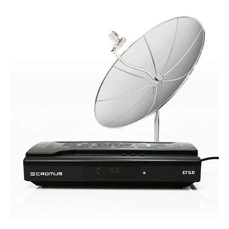 Kit Antena Parabolica Tv Free Cromus Digital + Analogico 1,50M - Monoponto