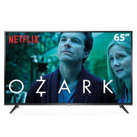 "Smart TV LED 65"" UHD 4K TCL 65P65US com HDR, Wi-Fi Integrado, Dolby Audio, Design Slim, Entradas HDMI e USB"