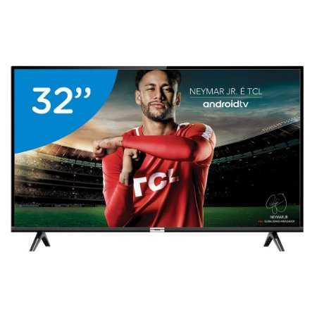 Smart TV LED 32 HD TCL 32S6500S 2 HDMI 1 USB Android OS Wi-Fi