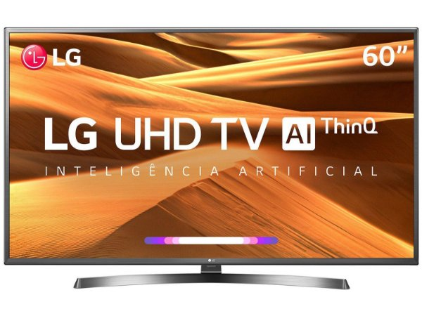 "Smart TV LED 60"" UHD 4K LG 60UM7270PSA ThinQ AI Inteligência Artificial IoT, HDR Ativo, WebOS 4.5,"