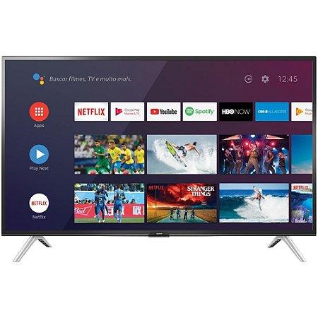 """Smart TV Android LED 32"""" Semp 32S5300 Bluetooth 2 HDMI 1 USB Controle Remoto com Comando de Voz"""
