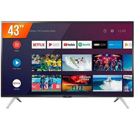 Smart TV LED 43 Full HD Semp 43S5300 2 HDMI 1 USB Wi-Fi Android