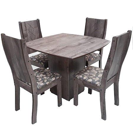 Conjunto de Mesa Tuboarte Laura 4 Cadeiras