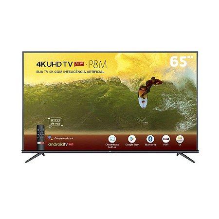 """Smart TV 4K LED 65"""" TCL P65US Wi-Fi HDR - 3 HDMI 2 USB"""