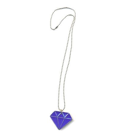 Cordão Diamante Fechado - Roxo