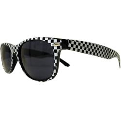 Óculos Retro  -  Quadriculado Preto e Branco