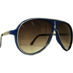Óculos Sport - Azul Marinho - Borda Branca