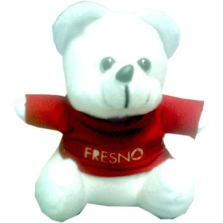 Urso Fresno usando camiseta da banda