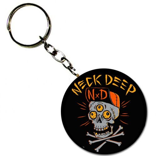 Chaveiro Neck Deep, Skulls Orange
