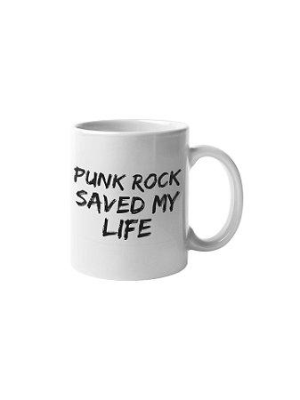 Caneca Punk Rock Saved My Life
