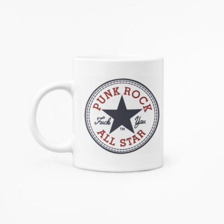 Caneca Punk Rock All Star