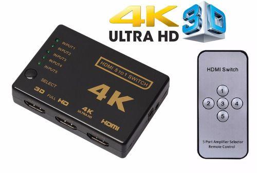 Switch Hdmi 4k  com controle remoto