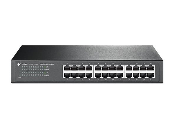 Switch Gigabit de mesa ou para rack de 24 portas Business