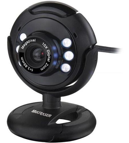 Web Cam Nightvision com microfone 16MP WC045 Multilaser