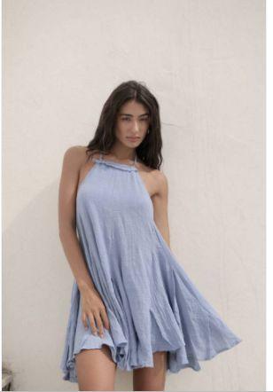 Vestido Carla Azul Celeste