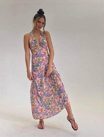 Vestido Rafa Floral Lilás