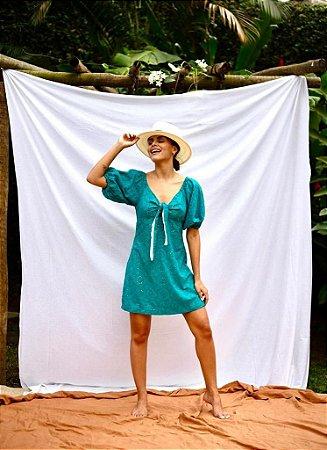 Vestido Curto Laise Azul