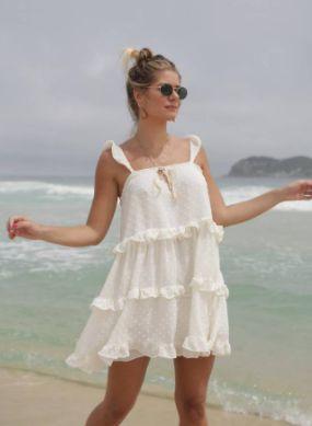 Vestido Curto Camadas OFF White