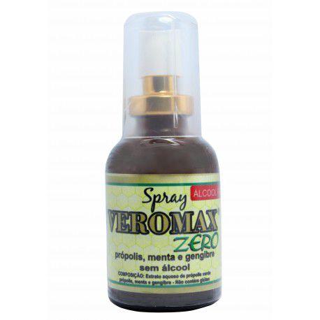 Spray de Própolis, Menta e Gengibre - Veromax Zero Álcool - 30mL