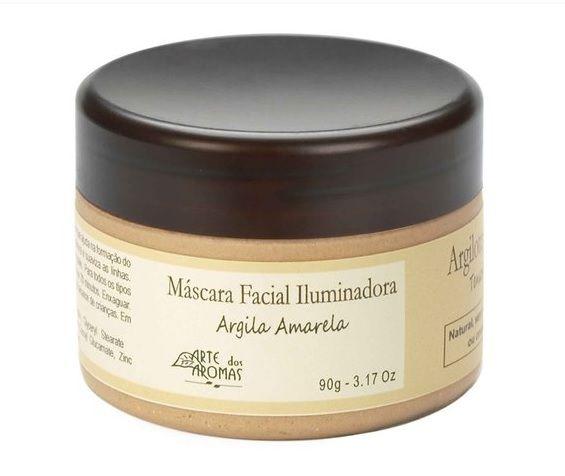 Máscara Argila Amarela 90g  - Arte dos Aromas