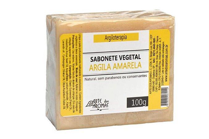 Sabonete Barra Argila Amarela 100g  - Arte dos Aromas