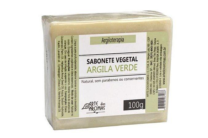 Sabonete  Barra Argila Verde 100g  - Arte dos Aromas