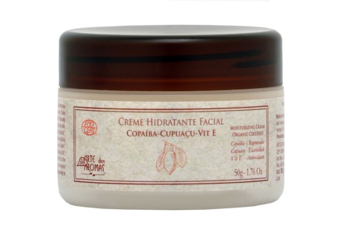 Creme Hidratante Facial Orgânico 50g - Arte dos Aromas