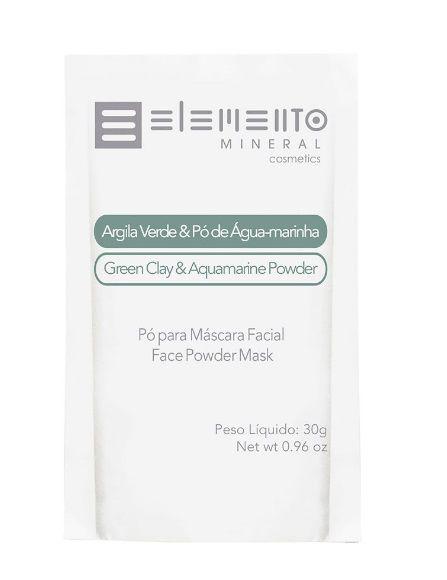 Argila Verde & Pó de Águamarinha 30g – Elemento Mineral