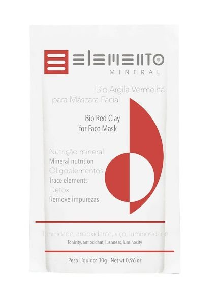 Bio Argila Vermelha 30g – Elemento Mineral