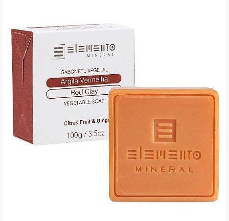Sabonete Vegetal Argila Vermelha 100g - Elemento Mineral