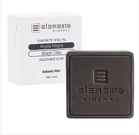 Sabonete Vegetal Argila Negra 100g - Elemento Mineral