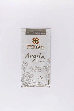 Argila Terramater Orgânica e Certificada -   Branca - 40 gr -