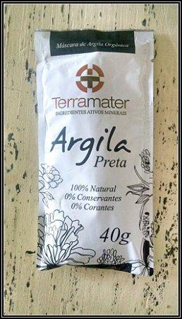 Argila Orgânica Preta - 40 gr - Terramater