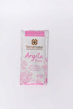 Argila Orgânica e Certificada Rosa - Terramater- 40 gr
