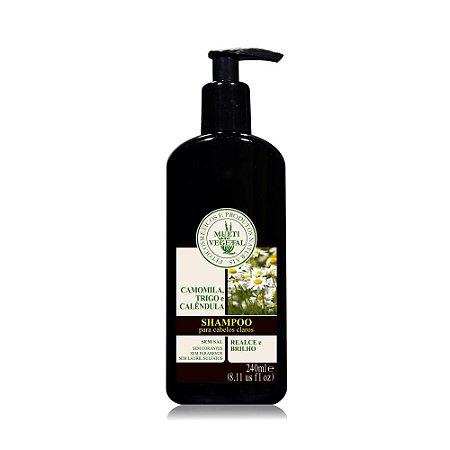Shampoo De Camomila, Trigo E Calêndula Para Cabelos Claros - Multi Vegetal - 240ml