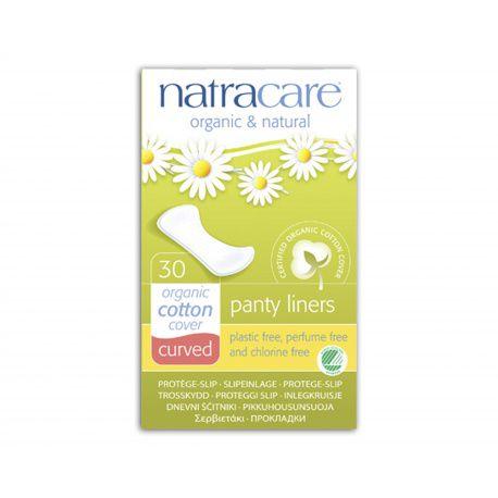 Absorvente diário orgânico Curved com 30 absorventes - Natracare