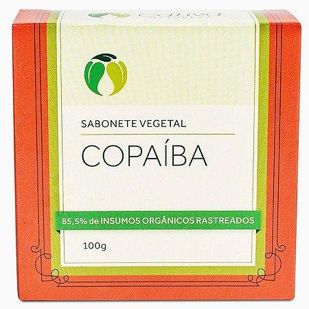 Sabonete Vegetal de Copaíba Orgânico Natural Vegano - Cativa Natureza - 100g