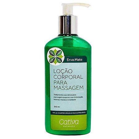 Loção para Massagem Corporal Erva Mate Orgânica Natural Vegana - Cativa Natureza - validade maio 2018