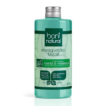 Enxaguante Bucal Natural e Vegano 500 ml - Boni