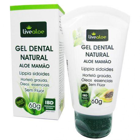 Gel Dental Natural e Vegano Aloe e Mamão 60g -  Livealoe