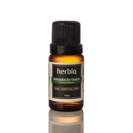 Óleo Essencial Orgânico de Manjericão Verde - 10 ml Herbia
