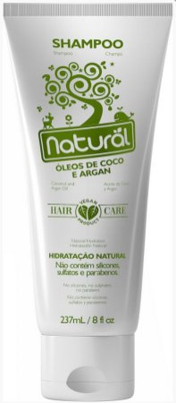 Shampoo Natural Suavetex com Óleos de Coco e Argan 237mL - Orgânico Natural