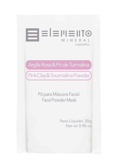 Argila Rosa & Pó de Turmalina 30g – Elemento Mineral