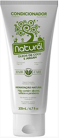 Condicionador com Óleos de Coco e Argan  - Orgânico Natural