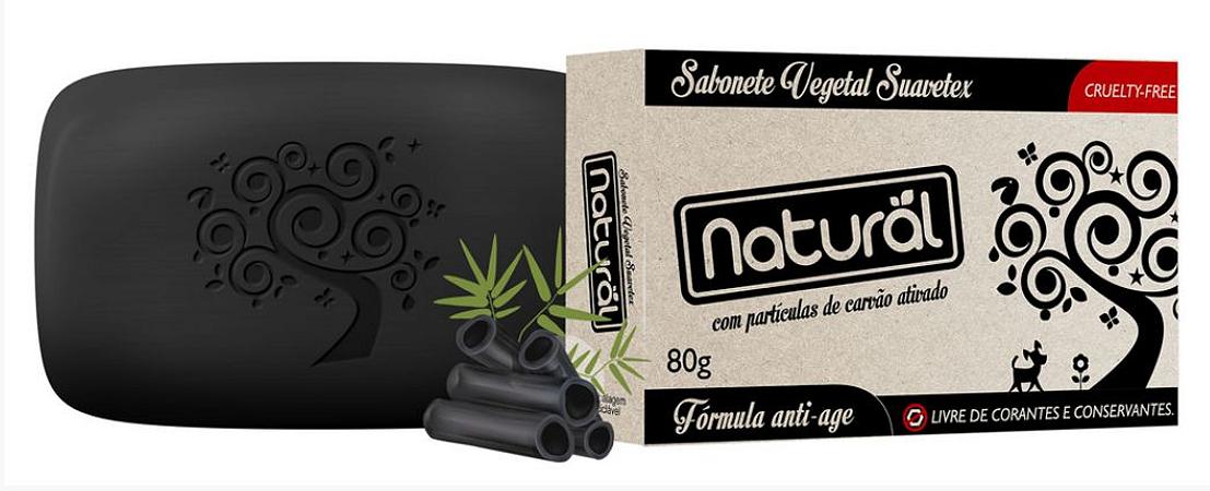 Sabonete Natural Suavetex com Carvão Ativado  - Contente Natural