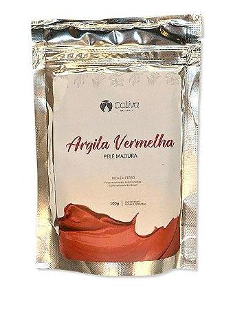 Mascara de Argila Vermelha Facial Natural Vegana - Cativa Organica