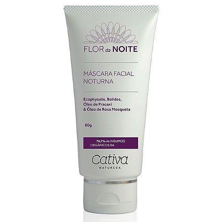 Máscara Noturna Facial Flor da Noite Natural Orgânica Vegana - Cativa Natureza